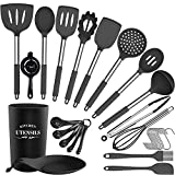 Juego de utensilios de cocina de silicona, juego de utensilios de cocina de silicona de 30 piezas