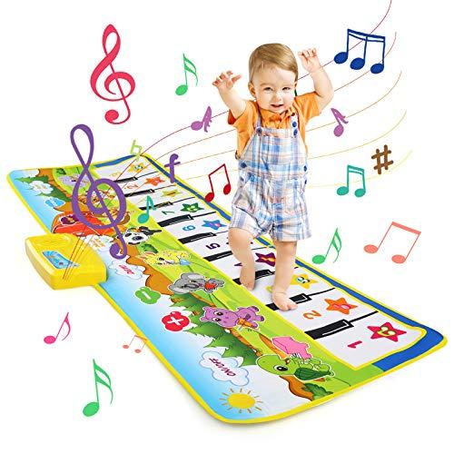 LEADSTAR Tapis de Musique, Tapis Musical Bébé, Piano Tapis Enfants, 100x36cm 8 Sons D