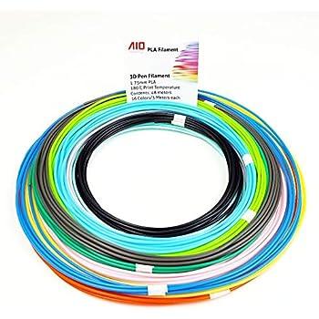 Lápiz 3d Filamento 1.75mm PLA Kit de barra recta ,Nanhong 3D Pluma ...