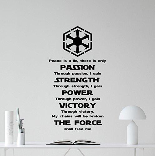 Star Wars Wall Decal Quote Jedi Code Codex Vinyl Sticker Cartoons Boy Kids Wall Art Nursery Decor Mural 350xxx