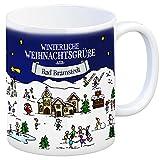 trendaffe - Bad Bramstedt Weihnachten Kaffeebecher mit winterlichen Weihnachtsgrüßen - Tasse, Weihnachtsmarkt, Weihnachten, Rentier, Geschenkidee, Geschenk