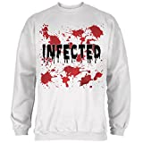 Old Glory Halloween Infected Blood Splatter Mens Sweatshirt White 2XL