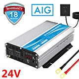2000W 24V Modified Sine Wave Power Inverter DC 24 Volt to AC 110 120 Volt with Remote Control & LED Display and USB Port for RV Truck Boat