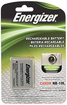 Energizer ENB-C10L Digital Replacement Battery NB-10L for Canon G1X G15 SX-40 and SX-50  Black