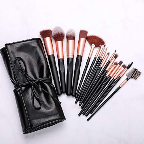 Pinceau de maquillage Set Premium Synthetic Foundation Poudre pour le visage Blush Fard à paupières Brosses Makeup Brush 16 Pcs Kit (Rose Golden)