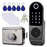 OBO HANDS Impronta Digitale Biometrica Wireless con Serratura Elettronica Sistema di Sicurezza Intelligente 13,56 MHz per Camera da Letto Appartamento Ufficio + 10pcs Chiave IC e Carte