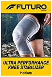 Futuro Active Knit Knee Stabilizer, Moderate Stabilizing Support, Medium, Gray