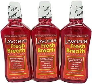 Original Cinnamon Lavoris Fresh Breath Mouthwash - 3 Pack of 16.9 oz Bottles