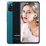 Hafury Günstig Smartphone ohne Vertrag Dual SIM, 4G-LTE Handy 5.5 Zoll Bildschirm mit 3100mAh Akku, 2GB + 16GB, 128GB erweitbar, Android 10, 3 Kameras, Face ID, Grün
