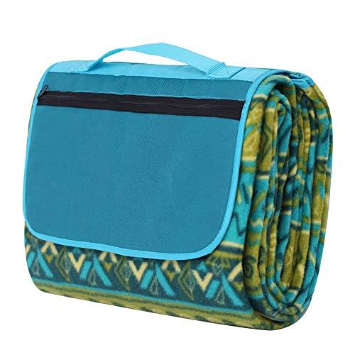 Fengbingl-hm Picknickdecke Mat Strandmatte Picknick-Matte Moisture Barrier-Zelt-Matten Doppelseitige Kinder Krabbeln Mat für Familiencamping im Freien (Farbe : Grün, Größe : 2.0x1.5m)
