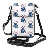 XCNGG Monedero pequeño para teléfono celular S-tich Crossbody Bags for Women's Crossbody Handbags Cell Phone Purse Waterproof Leather Handbags Small Wallet