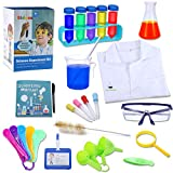 Bldaxn Science Lab Kit for Kids, Kids Science Experiments Kit with Lab Coat Scientist Costume Dress Up Pretend Play Toys Set for Science Projects & Experiments for Boys Girls Kids Age 6 7 8 9 10