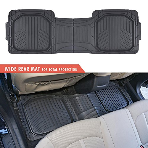 Motor Trend Black Deep Dish Rubber Floor Mats All-Climate All Weather Performance Plus Heavy Duty Liners Odo   rless (Black)