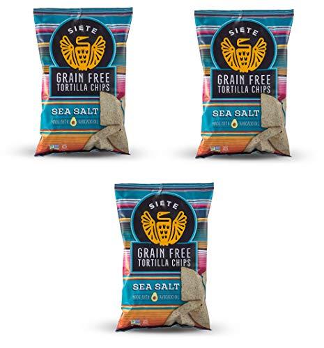 Siete Sea Salt Grain Free Tortilla Chips, 5 oz bags, 3-Pack