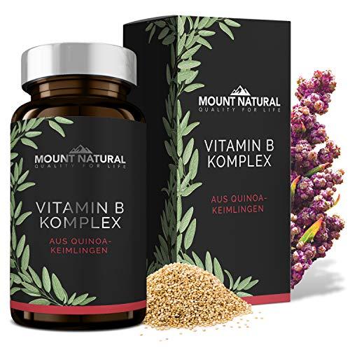 100{63a1ae4b0c75c08b42d080b46767919b91c90e59b7826ad4120d949384c7342d} Natürlicher Vitamin B Komplex aus Quinoa-Keimlingen mit allen 8 B-Vitaminen (B1, B2, B3, B5, B6, B7, B9, B12) - kba-Qualität, 60 vegane Kapseln à 500 mg