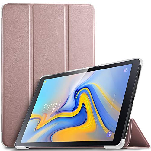 IVSO Custodia Cover per Samsung Galaxy Tab A 10.5 2018 SM-T590N/T595N, Slim Smart Protettiva Custodia Cover in pelle PU per Samsung Galaxy Tab A SM-T590N/T595N 2018 10.5 Pollici, Oro rosa
