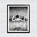 yhnjikl Poster Leinwand Gemälde, Steve McQueen Bad Mit
