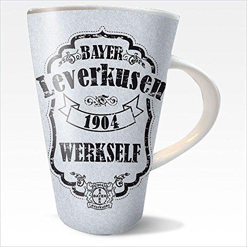 Bayer Leverkusen Kaffeetasse 1904 Steingut