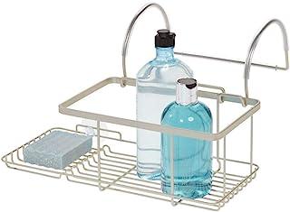 iDesign 23825EU Everett Drill Bathroom Storage, Small Metal Hanging Tray, Bath Caddy for Soap, Cosmetics, Books, Tablet an...