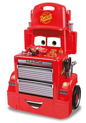 Smoby - Disney - Cars 3 - Servante Mack Truck - + Accessoires et Voiture Flash Mc Queen - 360208