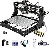 VEVOR 500mw-15W Cnc 3018 Pro Cnc 3018 Máquina CNC Grabador Láser Máquina de Grabado Láser para Cuero de Madera de Plástico (3018Pro Básico)