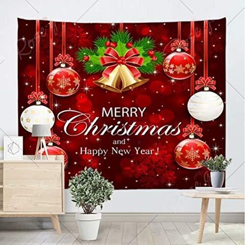 Tapiz de Pared Decoración Navidad Tapiz Pared Grande Papá Noel Chimenea Tapices Pared Cuelga Navideña Tapiz Decoración Hogar (Año Nuevo, 150 * 150 cm)