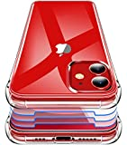 Garegce Cover Compatibile con iPhone 12, iPhone 12 PRO con 3 Pezzi Vetro Temperato, Antiurto Silicone Protettiva Custodia Compatibile con iPhone 12, 12 PRO 6.1 Pollici, Trasparente