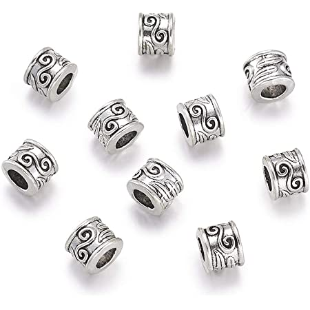 Lead Free /& Nickel Free /& Cadmium Free FASHEWELRY 20pcs Antique Silver Tibetan Style Birds Alloy Metal Beads Spacers Loose Spacer Beads Charms for Jewelry Making Findings