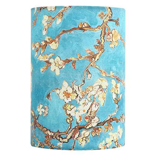 OSALADI Lámpara de tela para sombra de albaricoque flor modelo cilindro lámpara pantalla de tela lámpara de mesa pantalla pantalla de repuesto para la casa 1 unidad