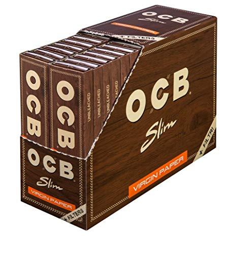 OCB 2300 Slim Virgin Paper non blanchi avec conseils et 32 cahiers 32 feuilles