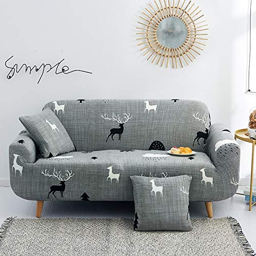 WXQY Geometric plaid sofa cover sofa cover elastic living room sofa cover elastic sofa chair cover sofa cover A33 1 seater