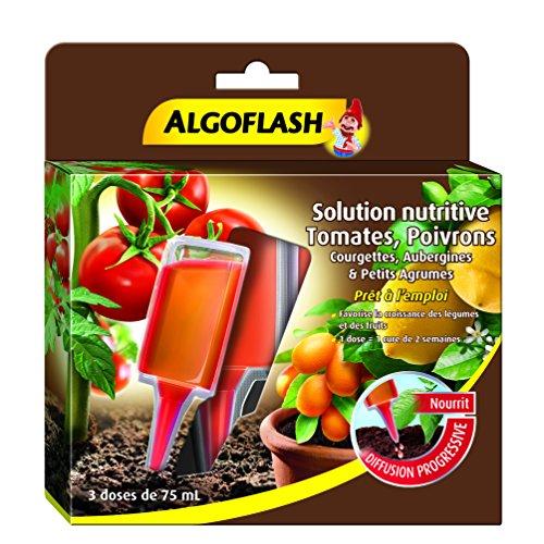 ALGOFLASH Monodose solution nutritive Tomates Poivrons Courgettes Aubergines et petits Agrumes, 3 doses, MONOLEG