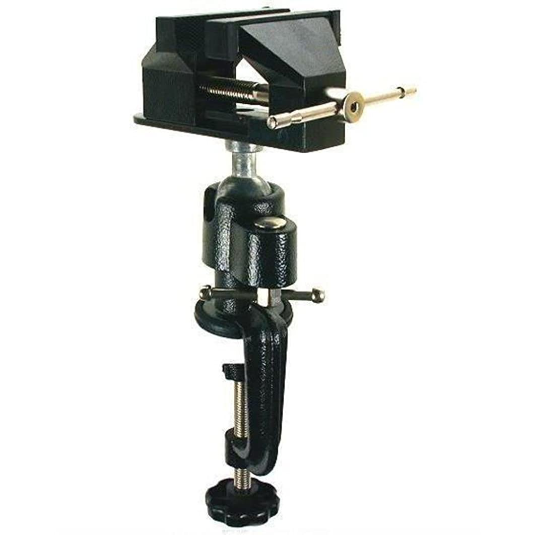 Table Vise Woodworking Bench Clamp-On Swivel Tool 3