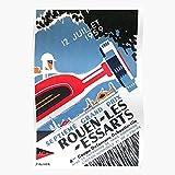 Grand Gp Les French Art Race Retro Vintage Prix Moto Affiche Racing Essarts Automobile Car RouenI El póster de decoración de interiores más impresionante y elegante disponible en tendencia ahora