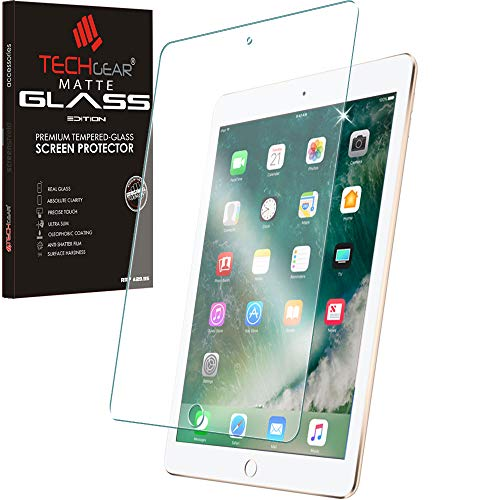 TECHGEAR Anti-Glare Screen Protector for iPad 9.7' 6th Gen & 5th Gen - MATTE GLASS Edition Genuine Tempered Glass Screen Protector Guard Cover Compatible with Apple iPad 9.7' 2018/2017