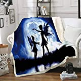 YEARGER Butterfly Fairy Cartoon Sherpa Blanket Velvet Plush Throw Fleece Blanket Bedspread Couch Sofa Quilt Cover Travel Bedding (150200CM,#05)