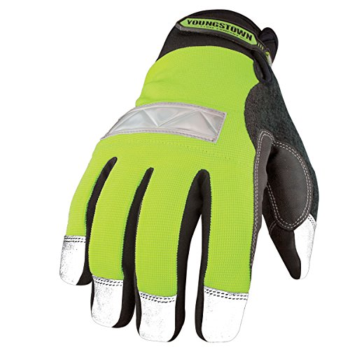 Youngstown Glove 08-3710-10-L Safety Lime Waterproof Winter Glove Large