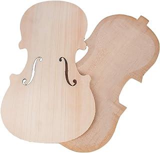 1 Conjunto De Kits De Violín Sin Terminar De Madera Panel De Violín Atrás - 1-8