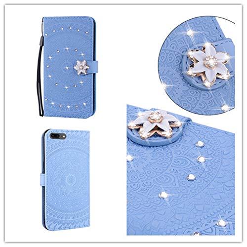 PROTECTIVECOVER+ / for IPhone 6 Plus Impresión prensada Patrón de taladro Patrón de taladro Horizontal Flip PU Funda de cuero con soporte y ranuras tarjetas y Wallet & Lanyard , Fashion Phone Funda Pa