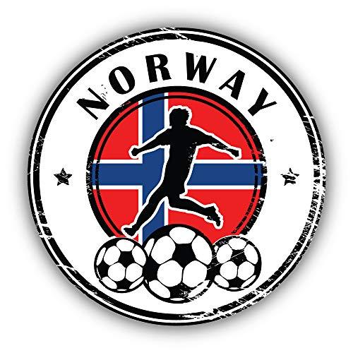 Norway Flag Football Grunge Emblem - Self-Adhesive Sticker Car Window Bumper Vinyl Decal Hochwertiger Aufkleber