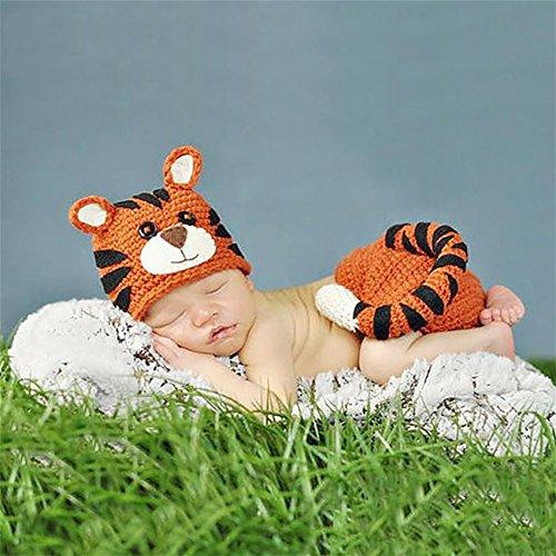 PEPEL Pull bébé Photographie Prop Cartoon Tiger