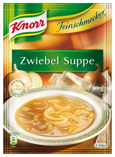 Knorr Feinschmecker Zwiebel-Suppe, 14er Pack (14 x 750 ml Beutel)
