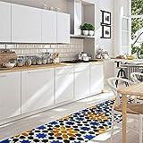 CREARREDA Tappeto cucina Granada 50x180 passatoia cucina antiscivolo, lavabile, ignifugo e antigraffio 100% Made in Italy
