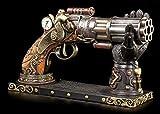 Steampunk Deko Pistole mit Hand-Halterung | Fantasy Waffe Veronese