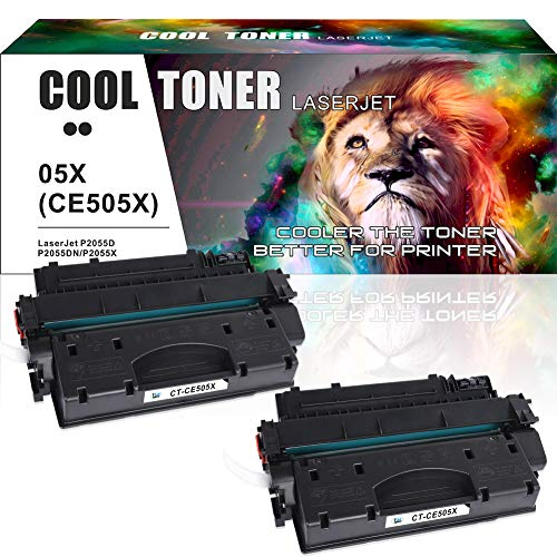 Cool Toner Compatibele Toner Cartridge vervangen voor HP CE505X 05X tonercartridge voor HP LaserJet P2055DN Toner, HP LaserJet P2055D, HP LaserJet P2055X P2055 Zwart, Canon 1133 1133A 1133IF