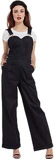 Women's Rosie The Riveter Wide Leg Denim Overalls Blue