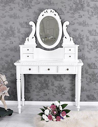 Vintage Schminktisch Boudoir Frisiertisch Weiss Toilettentisch Shabby Palazzo Exklusiv