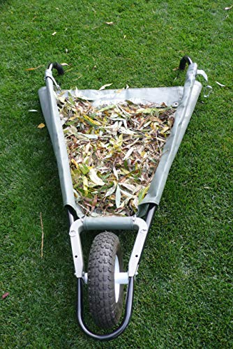 Allsop Home and Garden WheelEasy Folding Yard Cart/Ground Load Wheelbarrow, Lightweight with 350 lbs Capacity, Ultra-Thick Vinyl-Coated Nylon, Large 12.5