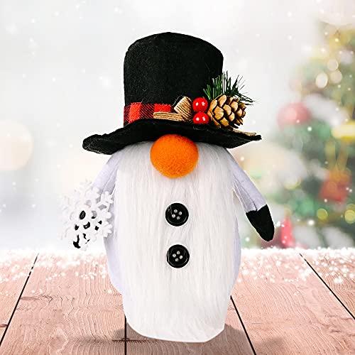 Decorazione natalizia in peluche, motivo: gnomo di Natale, pupazzo di neve bianco, pupazzo di neve...