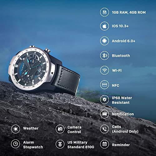 Mobvoi TicWatch Pro 2020 SmartWatch with 1GB RAM - Black (30-Days Battery Life)